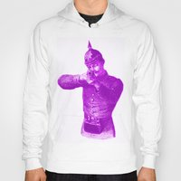 soldier Hoodies featuring Pink Soldier by Connor Resnick