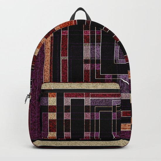 """Abstract pattern ."""" Squares """".  Backpack"""