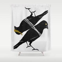 bird heist Shower Curtain