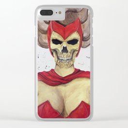 Scarlet Witch Skull Clear iPhone Case