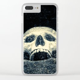 Old Human Skull In A Pagan Temple Clear iPhone Case