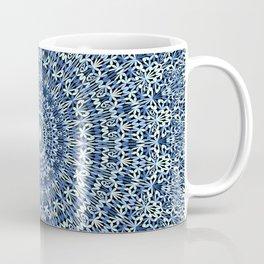 Light Blue Psychedelic Garden Mandala Coffee Mug
