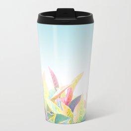 After the rain / Tropical Croton Leaves 4 Travel Mug