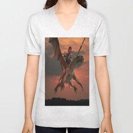 Dragon Girl  Unisex V-Neck