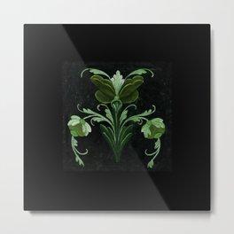 Antique Flowers No.1b by Kathy Morton Stanion Metal Print