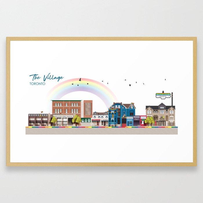 The Village - Toronto Neighbourhood Framed Art Print