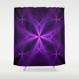 Purple Swag Shower Curtain