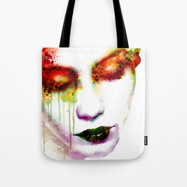 Melancholy in watercolor Tote Bag