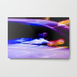 Neon Metal Print