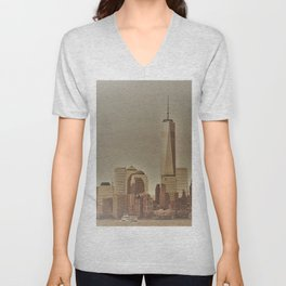 New York Harbor Unisex V-Neck