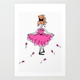 Michelle Taormina's FrankyRose illustrations Art Print