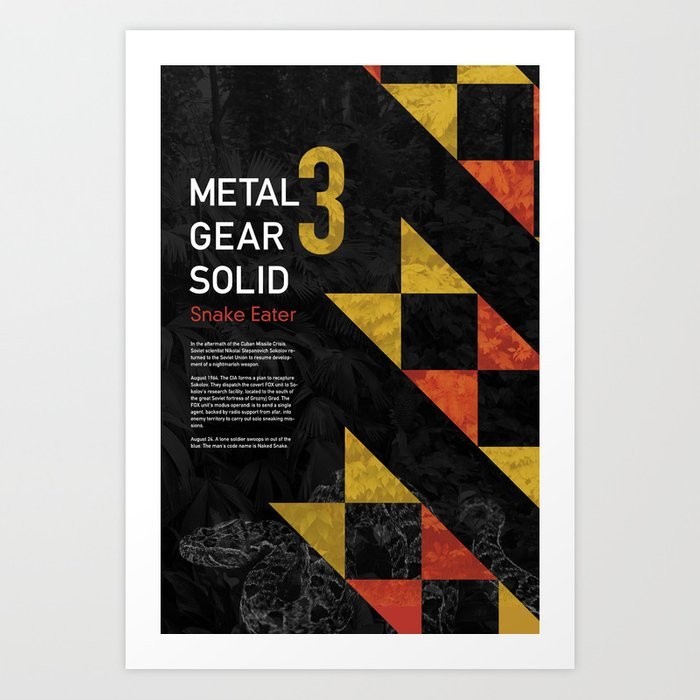Metal Gear Solid 3: Snake Eater Art Print