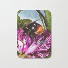 Bee on flower 9 Bath Mat