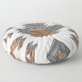 Urban Tribal Pattern No.8 - Aztec - Wood Floor Pillow
