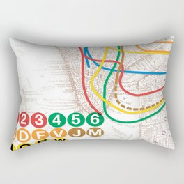 What the Future Awaits for New York I Rectangular Pillow