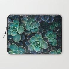 Succulent Blue Green Plants Laptop Sleeve