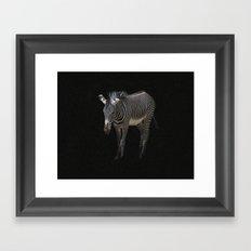Black and White on Black Framed Art Print