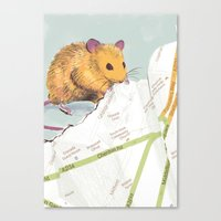 mouse Canvas Prints featuring Mouse by Louise Hubbard
