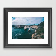 Seaside Cliffs Framed Art Print