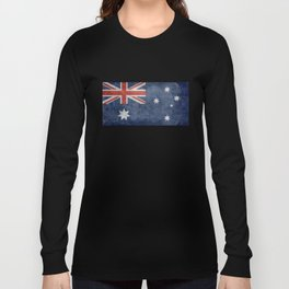 The National flag of Australia, Vintage version Long Sleeve T-shirt