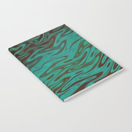Ripples Fractal in Teals Notebook