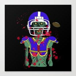 Zombie Football Player Canvas Print
