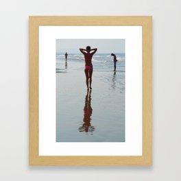 Along the Shoreline Arambol Framed Art Print
