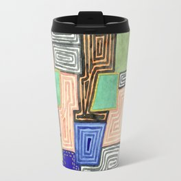 Complex Pattern with Golden Lines Travel Mug