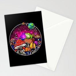 Psychedelic Magic Mushrooms Fungi Frog Stationery Cards
