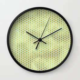 Mint Gold Foil 08 Wall Clock