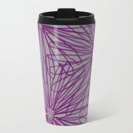Abstract Pink Daisy Travel Mug
