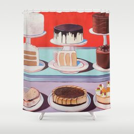 Cake on Display Shower Curtain