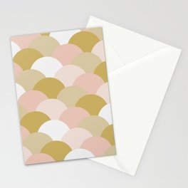 Pink & Gold Mermaid Stationery Cards