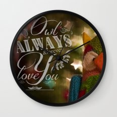 Wise Feelings Wall Clock