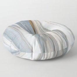 Gray Woodgrain  Floor Pillow