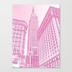 A Pink Empire Canvas Print