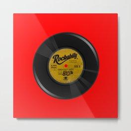 Rockabilly Vinyl Metal Print
