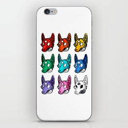 Candy Colored Space Coyotes iPhone Skin