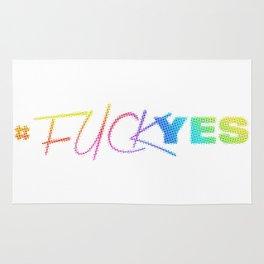 #FuckYes   Rainbow Series   Pop Art Rug