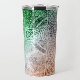 Irish Celtic Cross Travel Mug