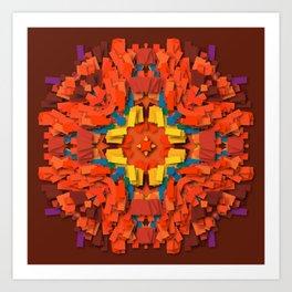 red round accumulation Art Print