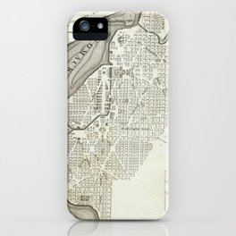 Vintage Map of Washington D.C. (1794) iPhone Case