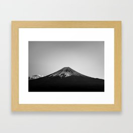 Mount Fuji Volcano in Grayscale Framed Art Print