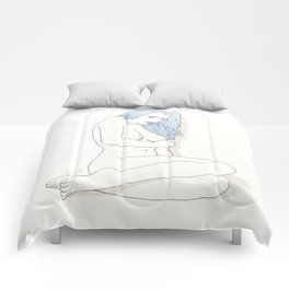 Post modern - Pin up girl Comforters