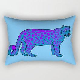 The curious snow leopard Rectangular Pillow
