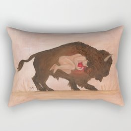 Heart of the Buffalo Rectangular Pillow