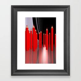 just some pencils -2- Framed Art Print