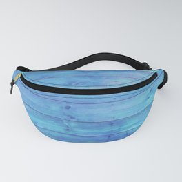 phthalo blue distressed stained painted wood board wall Fanny Pack