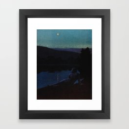 """The night follows along, with millions of suns, and sleep, and restoring darkness"" (Margaret Cook) Framed Art Print"