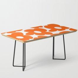 Orange Retro Flowers White Background #decor #society6 #buyart Coffee Table